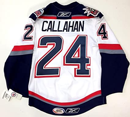 1ee47c5d15c Ryan Callahan Hartford Wolfpack Authentic White Reebok Edge Jersey ...