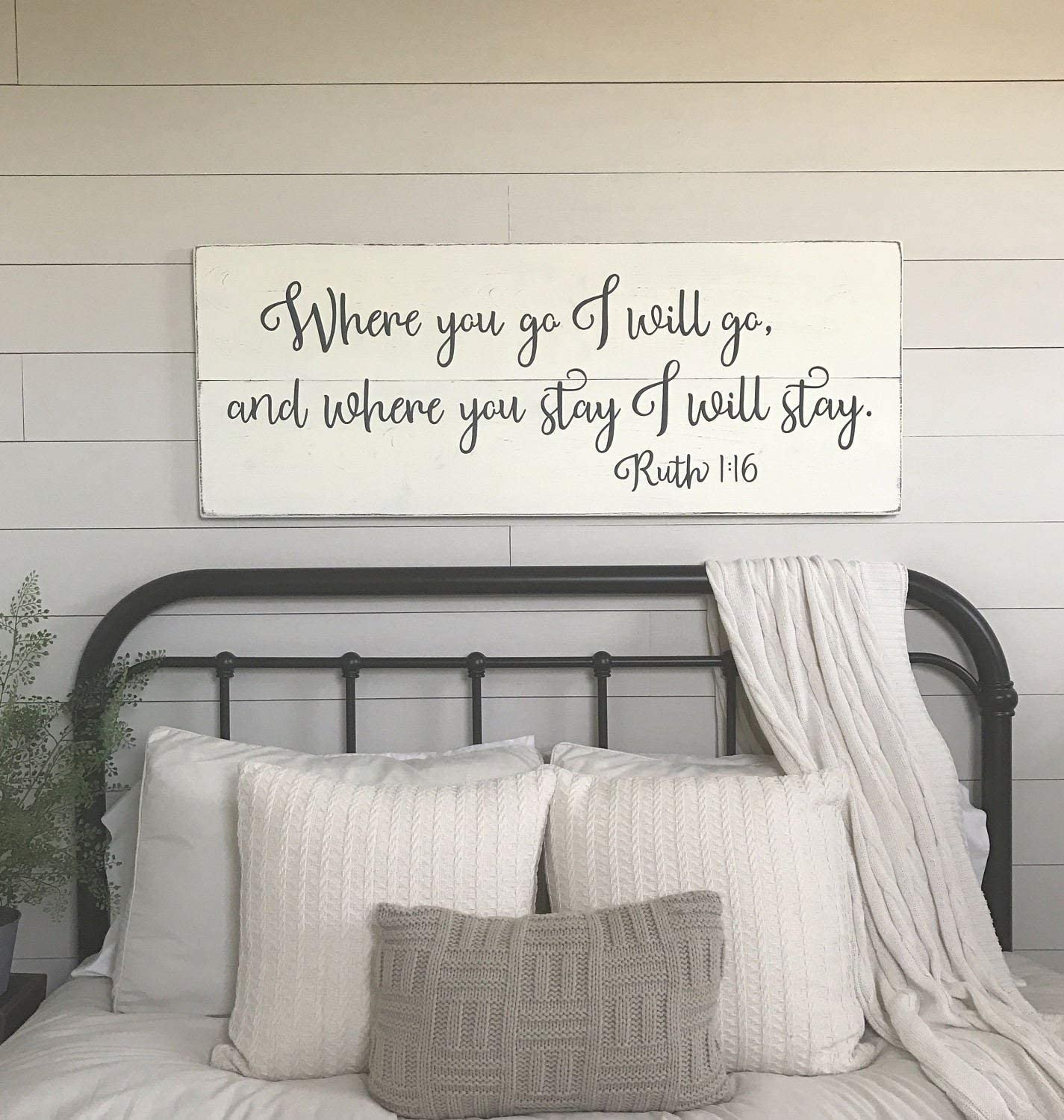 Emily Bedroom Where You Go I Will Go Bedroom Sign Master Bedroom Quote  Decorative Sign Home Wooden Sign Plaque