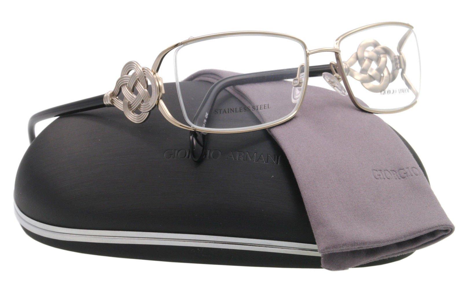 NEW Giorgio Armani Eyeglasses GA 719 Silver QNE GA719 52mm
