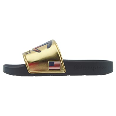 822835472 Champion Men s IPO Metallic Slide Sandals (M9-W11