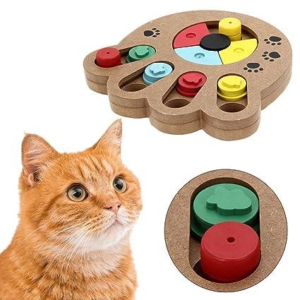 Inteligencia de Mascota Busca comida Juguete de peluche de madera tratado con mascota para perros pequeños