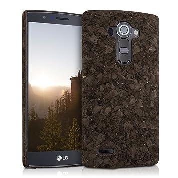 kwmobile Funda para LG G4 - Carcasa Protectora de [Corcho] para teléfono móvil - Cover [Trasero] rígido y Resistente