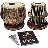 Satnam COPPER Bayan Hand Crafted Copper Tabla Drum Set with Tabla Set Gig Bag | Tabla Set Hammer | Tabla Set - Music…