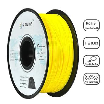 PRILINE - Filamento flexible para impresora 3D de TPU, 1 kg, 1,75 ...