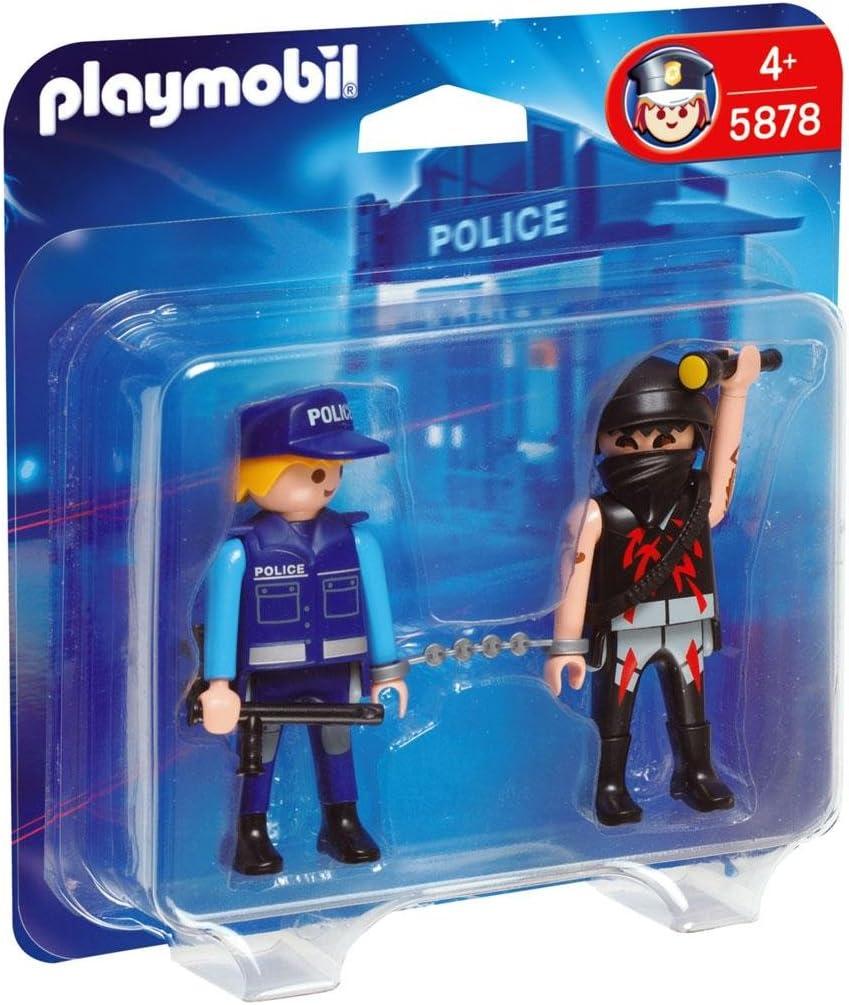 Playmobil Duo Pack Policía con Ladrón: Amazon.es: Juguetes y juegos
