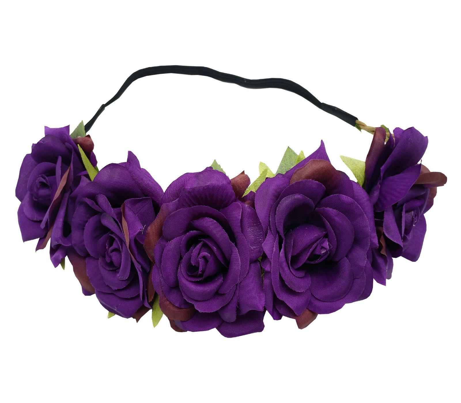 Amazon Sanrich Fake Flower Crowns Headbands For Women Girl