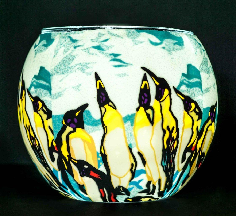 Benaya Glass Nightlight Christmas Tealight Holder - A Board Meeting Milford Collection