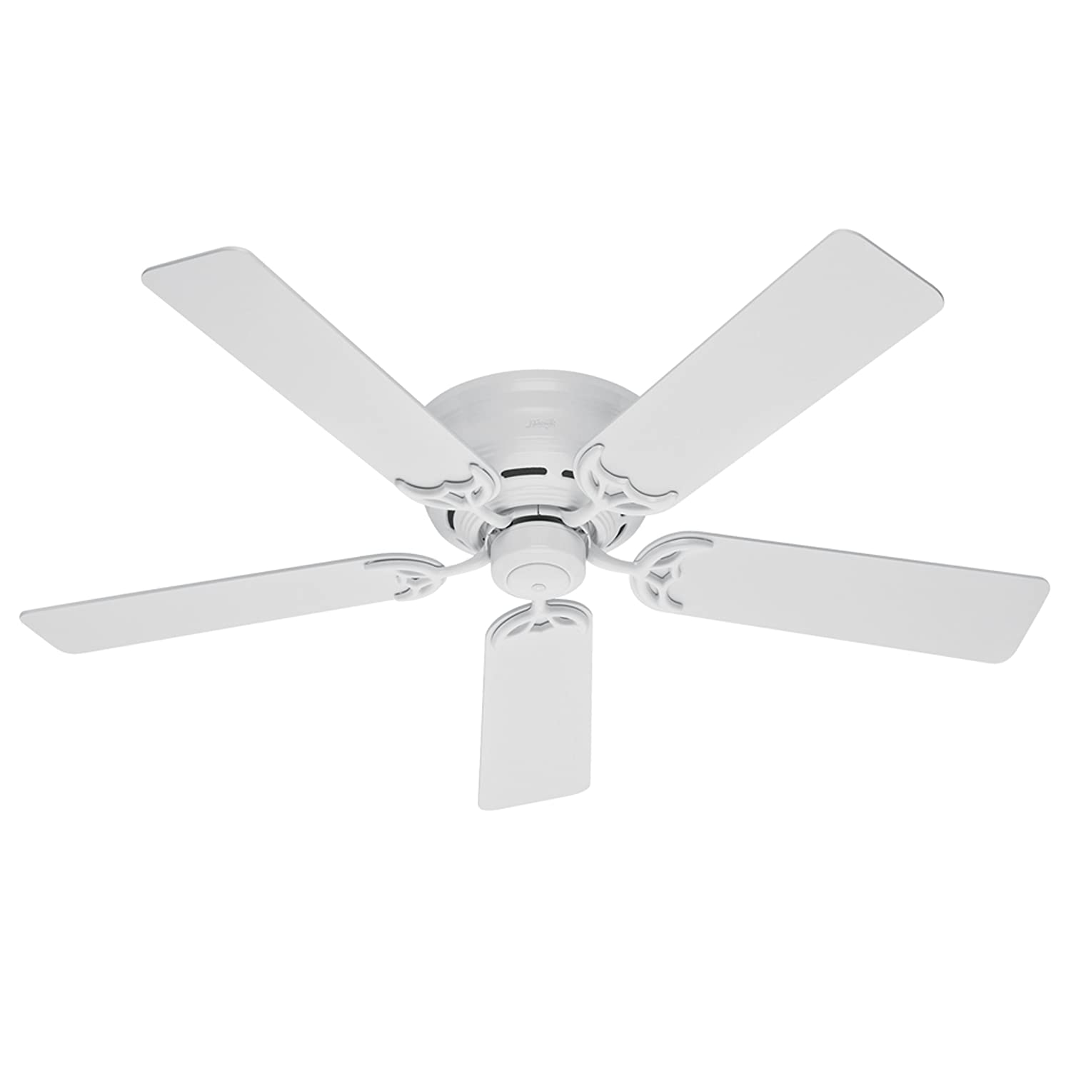Hunter 52 Inch White Low Profile III Fan Ceiling Fans