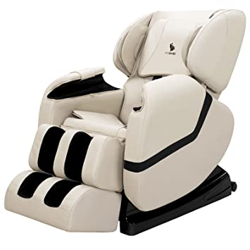 Merveilleux ORKAN Full Body Shiatsu Massage Chair Recliner ZERO GRAVITY Foot Rest WHITE