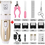 Dog Grooming Clippers Professional Low Noise and Cordless Pet Grooming Clippers Tools Horse Cat Dog Hair Clippers Trimmer