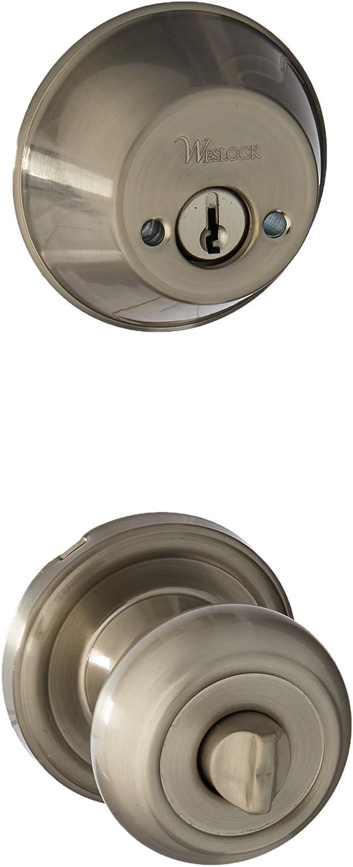 Weslock 01302 Znsl2d Lexington 1300 Series Entry Handle Satin Nickel Doorknobs Amazon Com