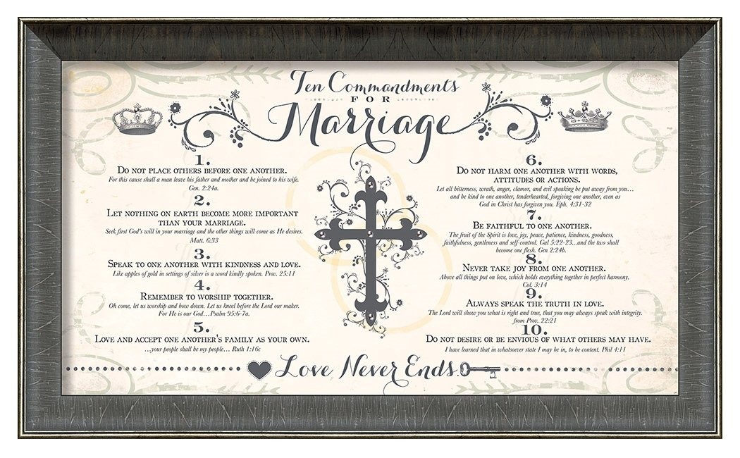 Carpentree 10 Commandments Marriage Artwork, 21 x 13'' by Carpentree