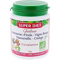 Super diet - Quatuor circulation - comprimés 200 - Pour des jambes lègères - BIO