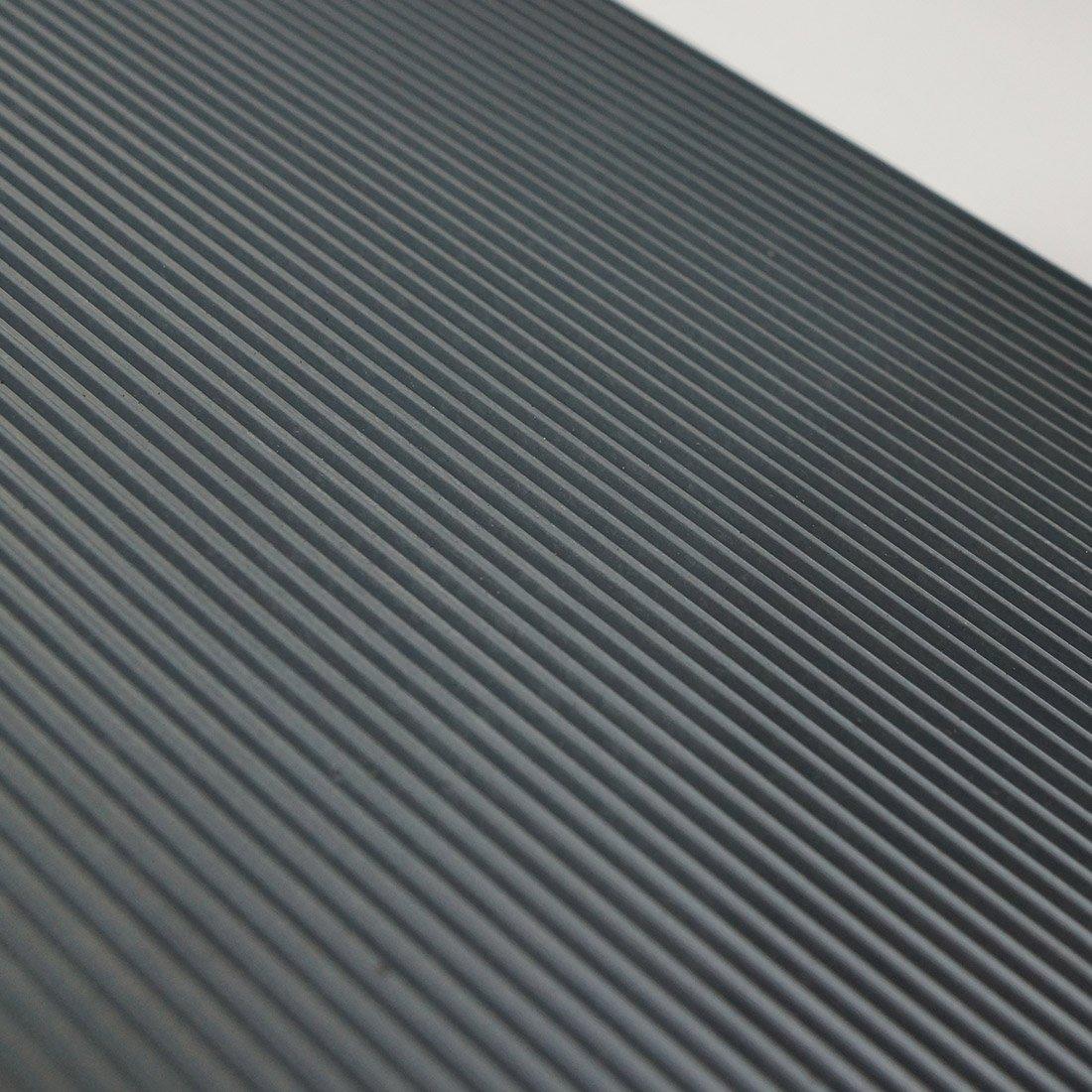 St/ärke: 3mm Farbe: Schwarz 6m/² 1,2 x 5,00m Gr/ö/ße w/ählbar Breitriefenmatte