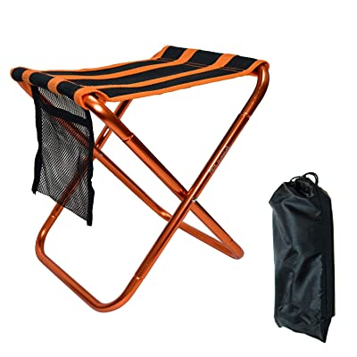 Farbetter Mini Camp Stool, Folding Camping Stool Chair with Storage Pouch, Lightweight Camping Stool, Portable Outdoor Chairs with Carry Bag for Fishing BBQ Garden Travel Camping Hiking: Clothing [5Bkhe0400291]