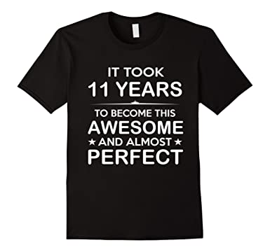 Mens Eleven 11 Year Old 11th Birthday Gift Ideas For Boy Girl 2XL Black