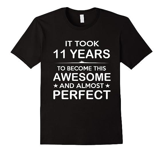 Mens Eleven 11 Year Old 11th Birthday Gift Ideas For Boy Girl 2XL Black