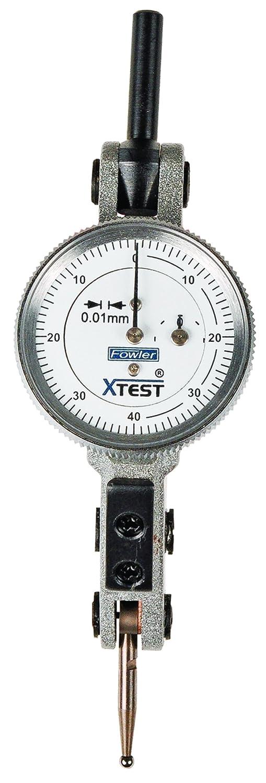 1.5 mm Measuring Range 25 mm Dial Diameter Silver Fowler 52-562-007-0 Horizontal White Dial x-Test Indicator 0.01 mm Graduation Interval