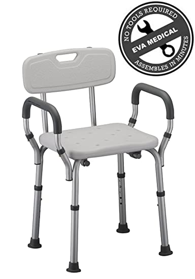 Amazon.com: Eva Medical Tool-free Spa Bathtub Shower Chair ...
