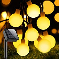 Guirnalda Luces Exterior Solar, Guirnalda Luces de 60 Globos en Exterior de 10M con 8 Modos, Luces Decorativas Exterior…