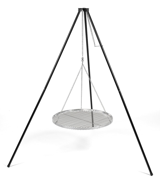 Schwenkgrill Dreibein mit Edelstahlgrillrost 50cm stufenlos in der Höhe verstellbar