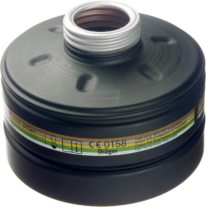 Dräger Filtro de protección Civil A2B2E2K2 P3 R D/NBC de Alta protección | Compatible con Dräger CDR 4500 | Conexión del Filtro Rd40