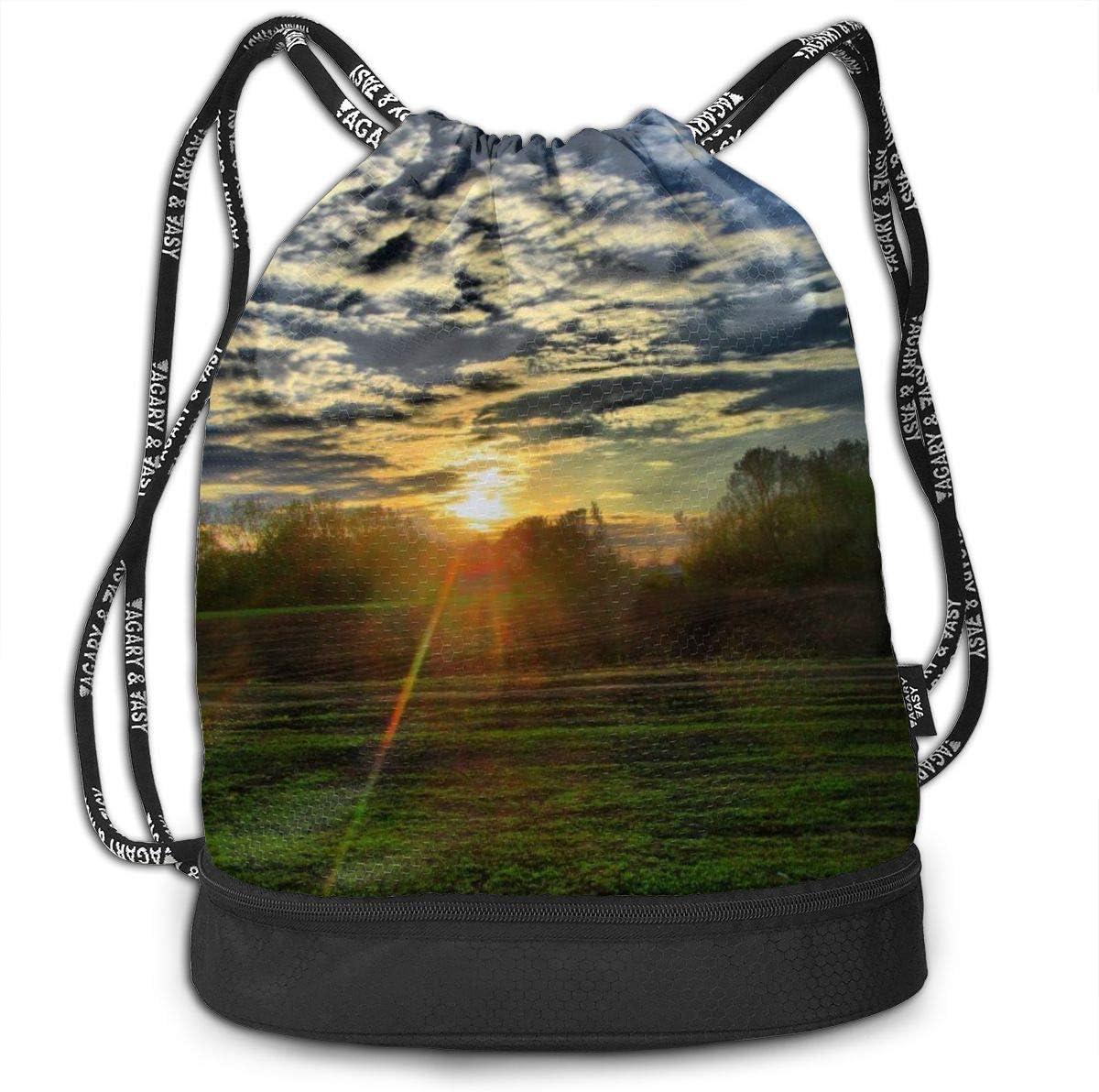 GymSack Drawstring Bag Sackpack Brain In Cage Sport Cinch Pack Simple Bundle Pocke Backpack For Men Women