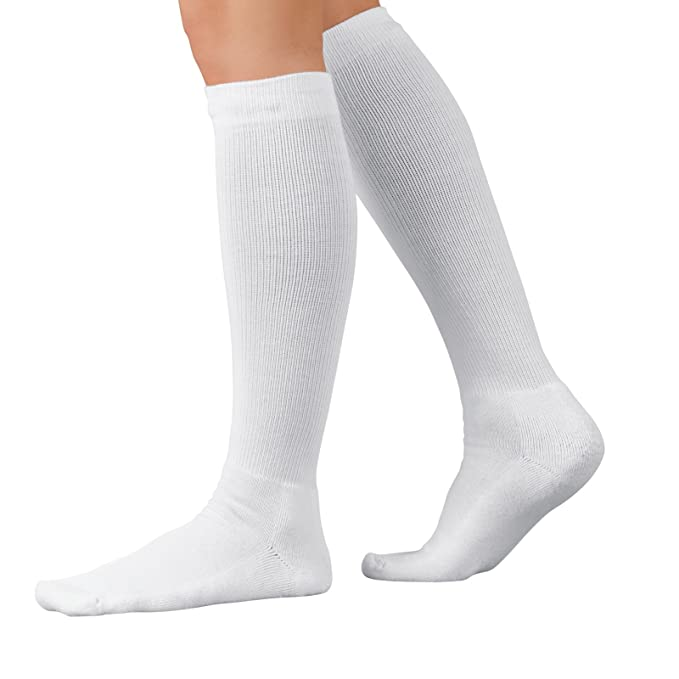 cc976c06e8 Buy Large, White : SIGVARIS EVERSOFT DIABETIC SOCK 160 Calf High  Compression Socks 8-15mmHg Online at Low Prices in India - Amazon.in
