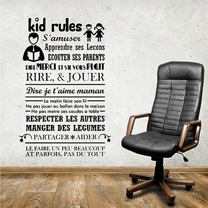 Diy vinilo Art Kid Reglas Etiqueta de la pared ESCUELA Decoración ...