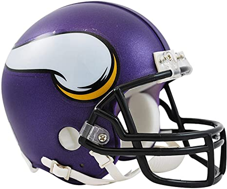 1581dad9bb7 Amazon.com   Sports Memorabilia Riddell Minnesota Vikings VSR4 Mini ...