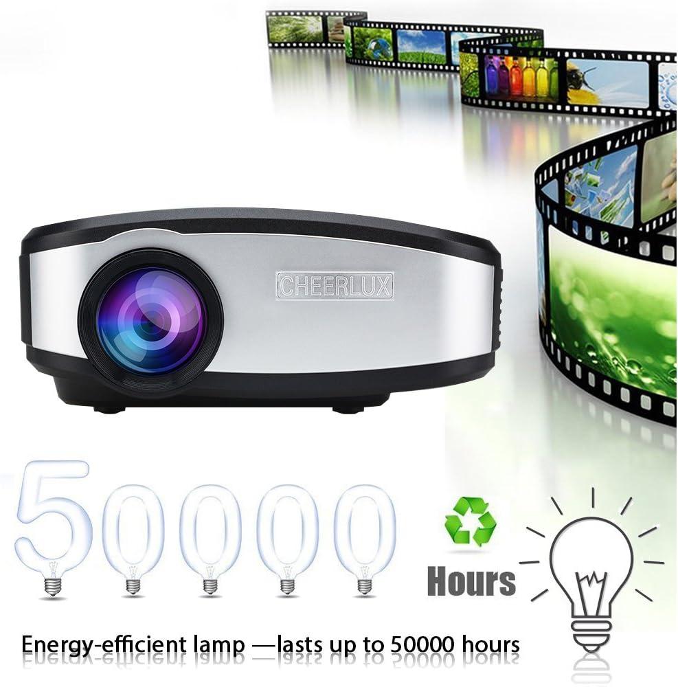 Vídeo proyector, goxmgo Portable Movie proyector con HDMI USB ...