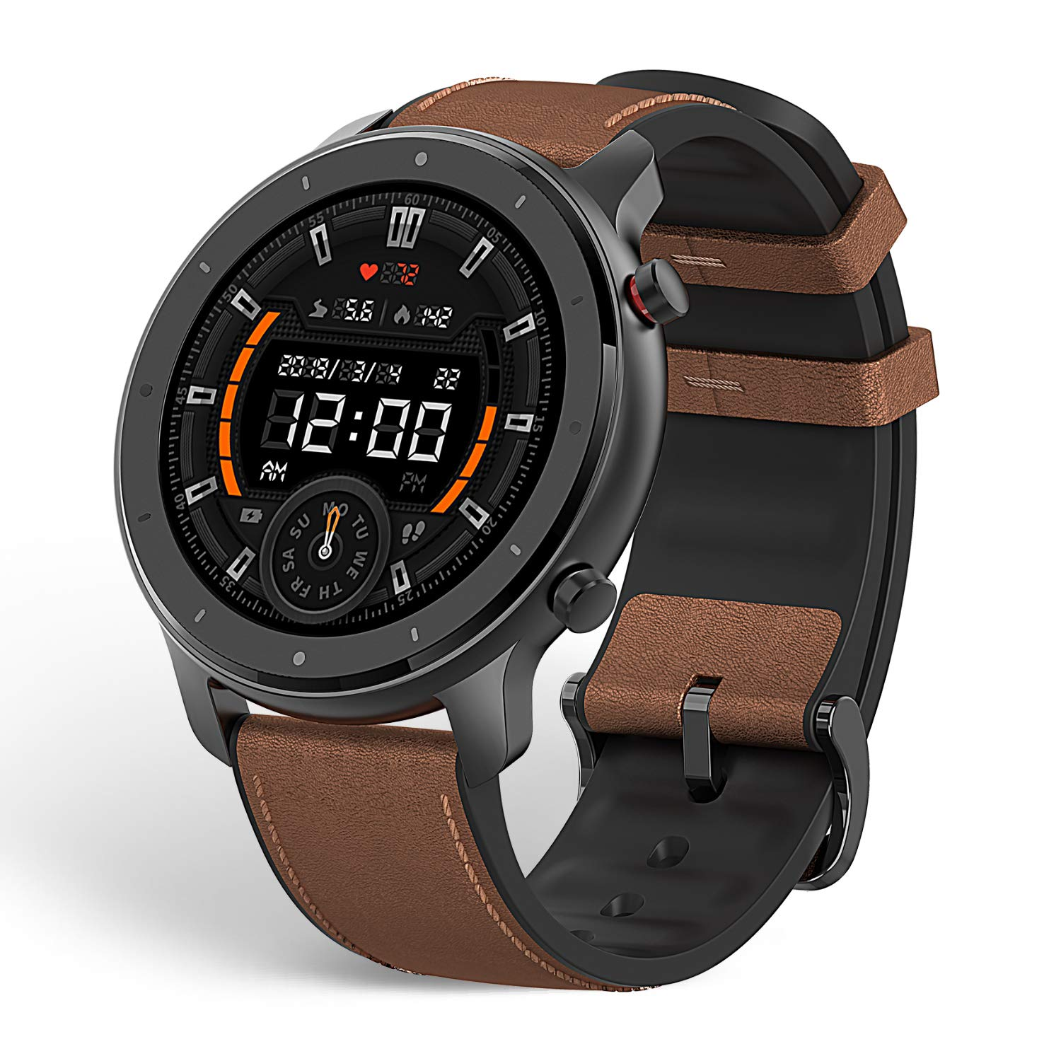 Amazfit GTR Aluminium Alloy Smartwatch All-Day Heart Rate Monitor Daily Activity Tracker Rate and Activity Tracking 24-Day Battery Life 12- Sport Modes 47mm (W1902US1N)