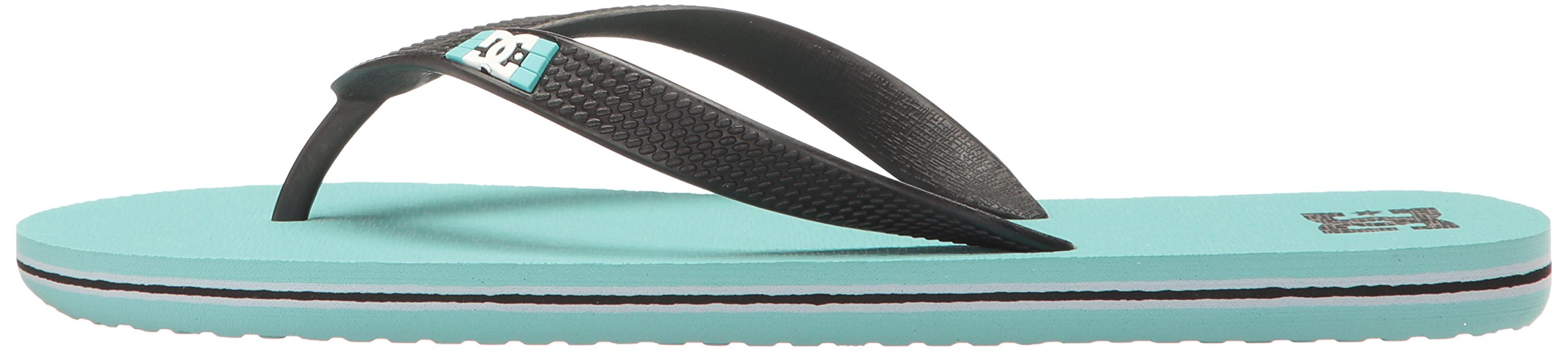 DC Girls' Spray Flip Flop, Turquoise, 6 M US Little Kid by DC (Image #5)