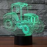 Hologramm 3d Lampe Nachttischlampe, Nachtlicht fürs Kinderzimmer, LED Lampe fürs Wohnzimmer