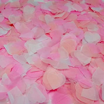Ldoux 6000 Piezas 1 Pulgada Confeti de Papel Confeti de Seda Corazón Rosa  para Decoración de 952d2192b25