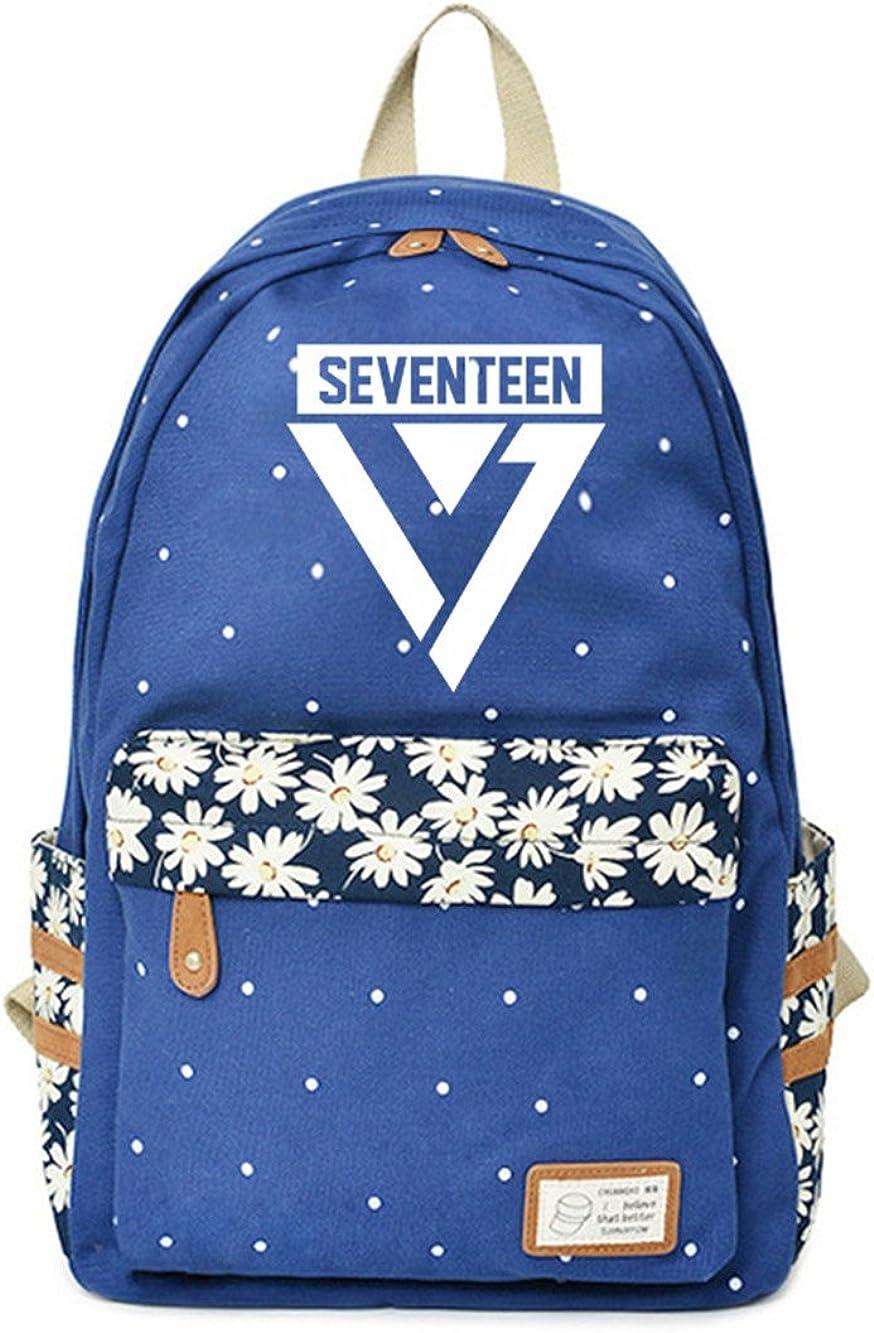 JUSTGOGO KPOP SEVENTEEN Backpack Daypack Laptop Bag College Bag Book Bag School Bag