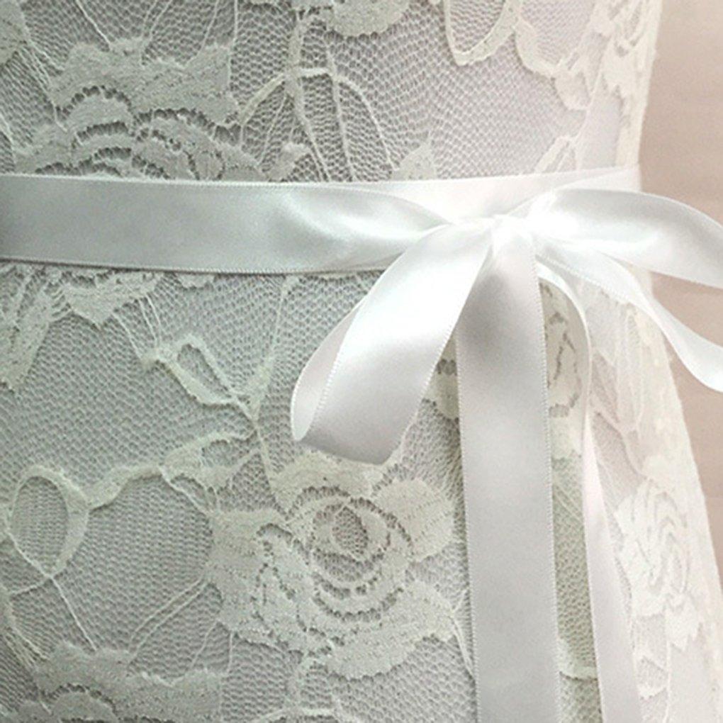 QHGstore ante di cristallo per nozze Matrimonio sposa cintura intrecciata con strass Sash grigio