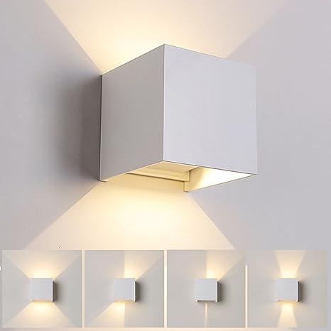 7W LED Apliques De Pared Modernos En Acero, Lamparas para ...
