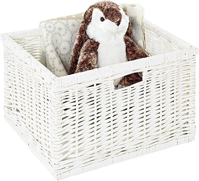 Pinolino cesta de mimbre juguetes caja de juguetes de almacenamiento