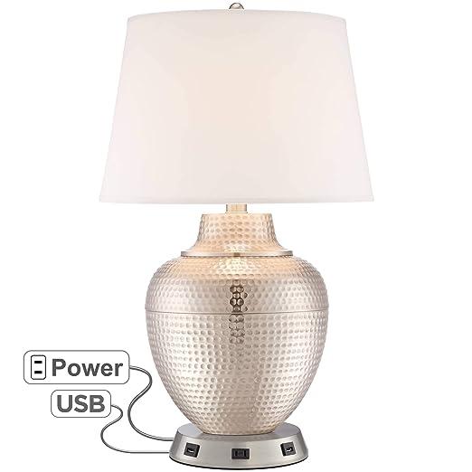Amazon.com: Brighton - Lámpara de mesa de níquel cepillado ...