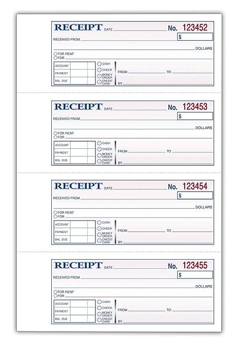 amazon com tops money receipt book 2 part carbonless 2 3 4 x 7