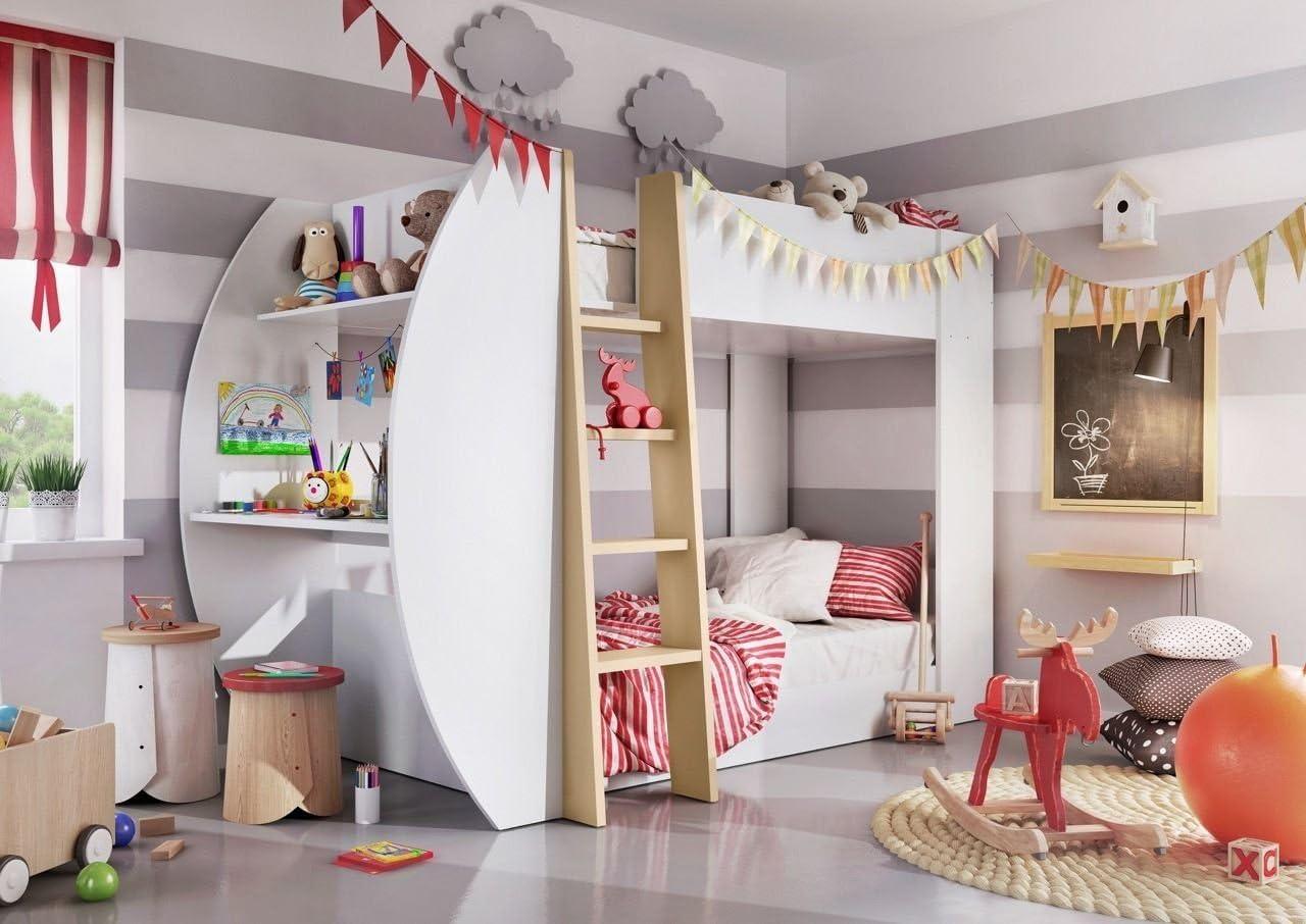 Matelas superpos/és lit de meubles de chambre /à coucher en bois cadre lit non inclus,White