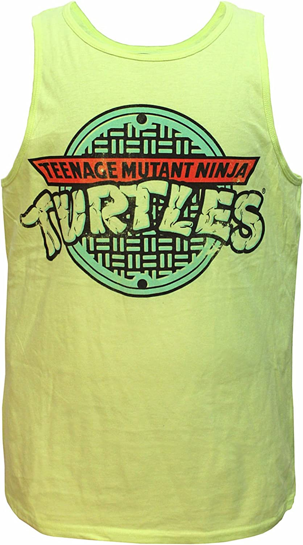Teenage Mutant Ninja Turtles Mens Classic Sewer Grate Logo Muscle Tank Top