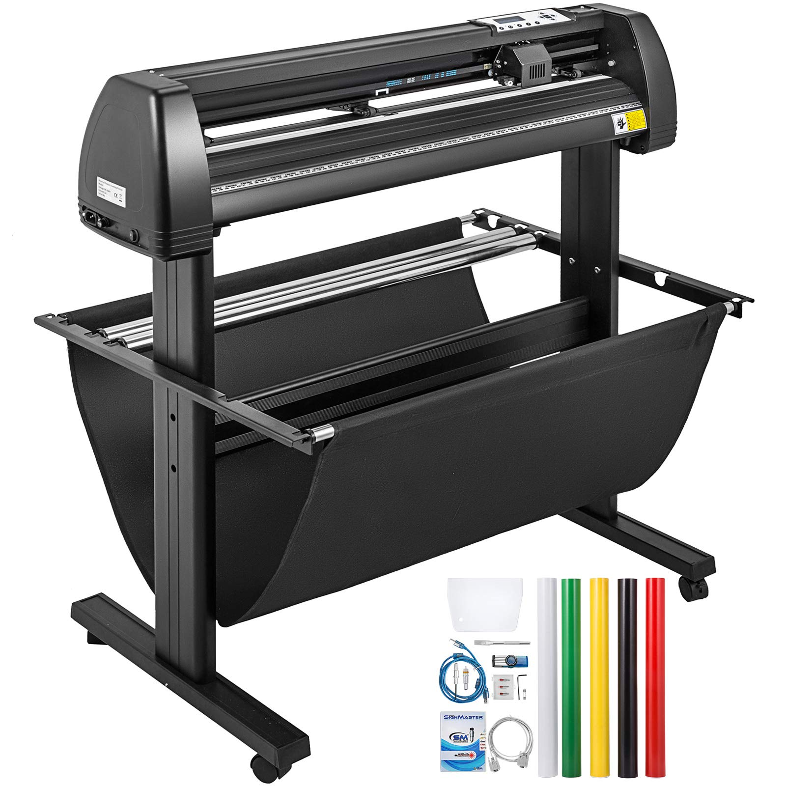 VEVOR Vinyl Cutter 34Inch Vinyl Cutter Machine Manual Vinyl Printer LCD Display Plotter Cutter Sign Cutting with Signmaster Software & Accessories