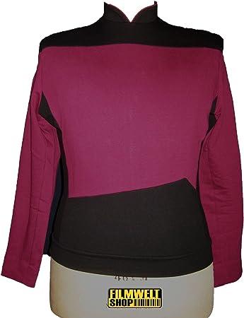 Unbekannt Star Trek Next Generation Uniform X-Large, rot Oberteil super Deluxe Baumwolle