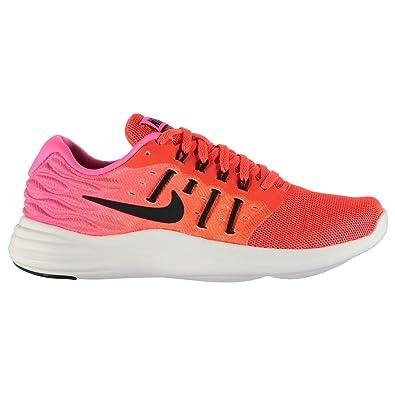 NIKE lunarstelos Chaussures de Course à Pied pour Femme RougeNoir RUN Fitness Formateurs Sneakers