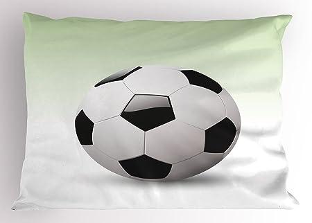Deportes almohada Sham por Ambesonne, vector imagen de fútbol ...