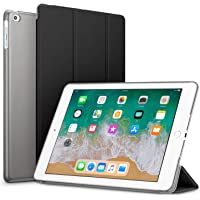 Robustrion Smart Slim Series Trifold Hard Back Flip Stand Case Cover iPad 9.7 inch 2018/2017 6th/5th Generation - Black