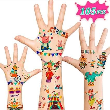 Amazon.com: 105 tatuajes temporales para niños, suministros ...