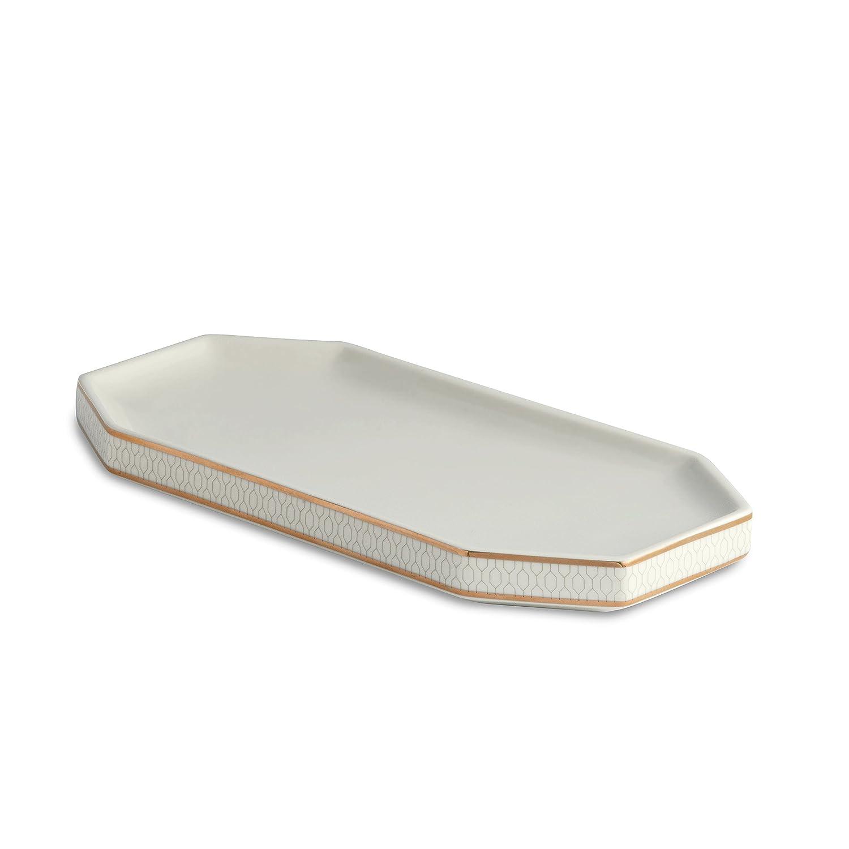 Kassatex AFC-SD-W Florence Soap Dish Kassatex Fine Linens